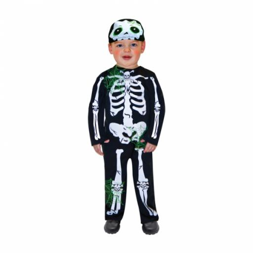 Toddler Skeleton Costume - Age 1-2 Years