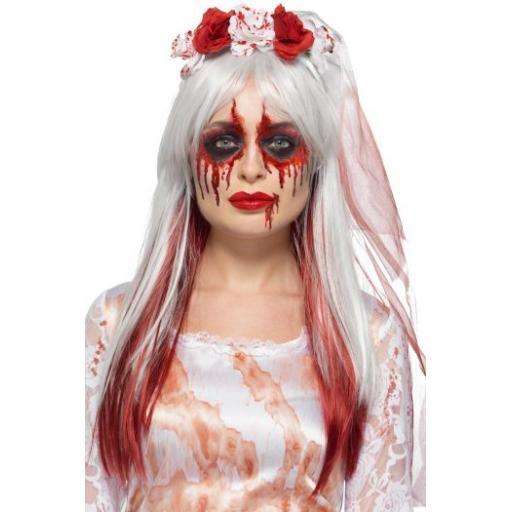 Smiffys Make-Up FX, Blood Drip Bride Kit