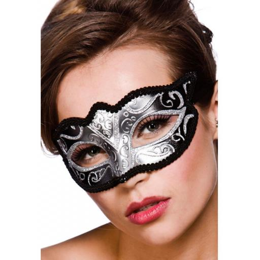 Verona Eye Mask Silver Glitter
