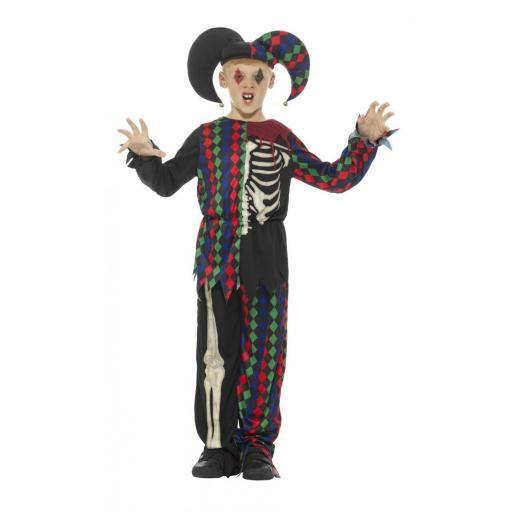 Skeleton Jester Costume Size L
