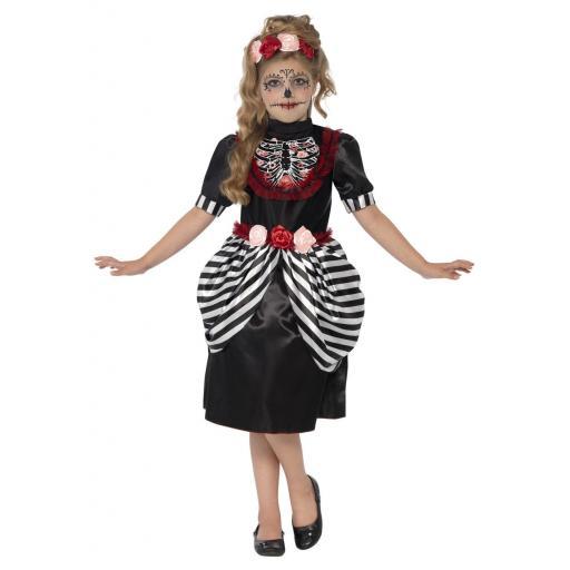 Sugar Skull Costume Size S