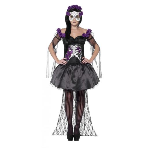 Day of the Dead Senorita Costume Size M