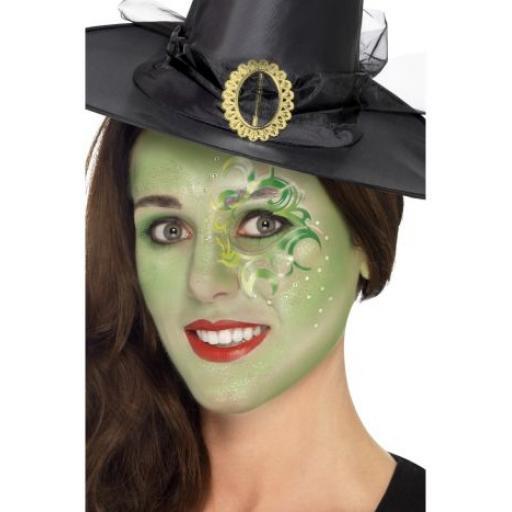 Pretty Witch Make-Up Kit, Aqua,Tattoo,Gem