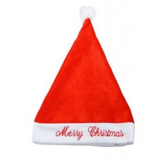 Red Santa Hat Father Christmas Xmas Fancy Dress