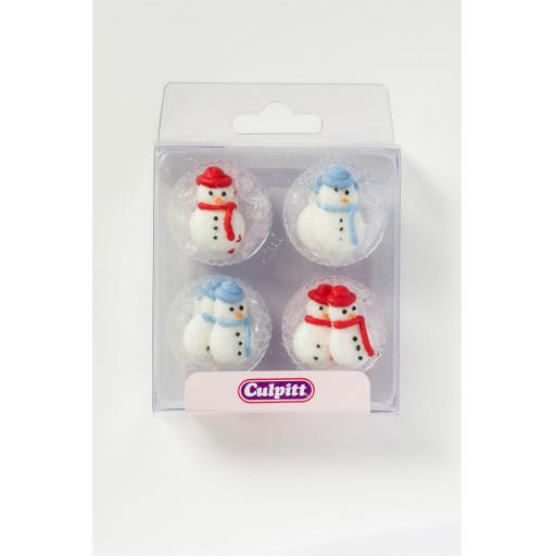 12 Snowman Sugar Decoration