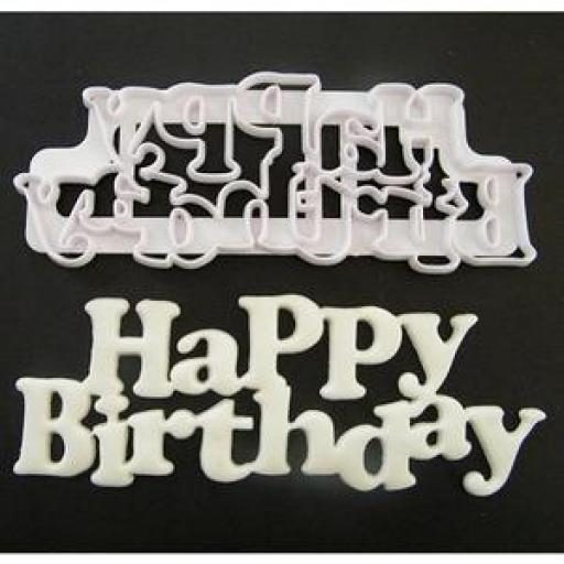 FMM - Happy Birthday Cutter - Curved Words