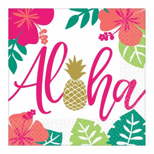 Aloha Luncheon Napkins 33cm/16pcs