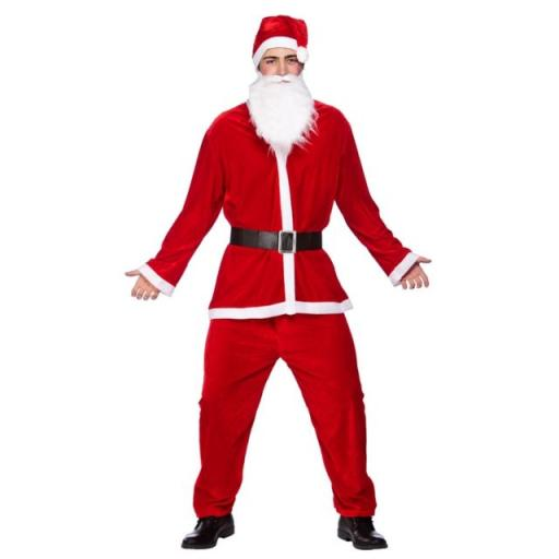 Santa Deluxe Costume 5pc Mens