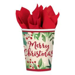 8 Merry Holly Day Paper Cup