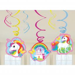6 Unicorn Swirl Decoration