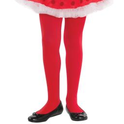 Child Girls Red Tights - Christmas Fancy