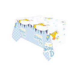 Christening Day Blue Plastic Tablecover 1.2m x 1.8m