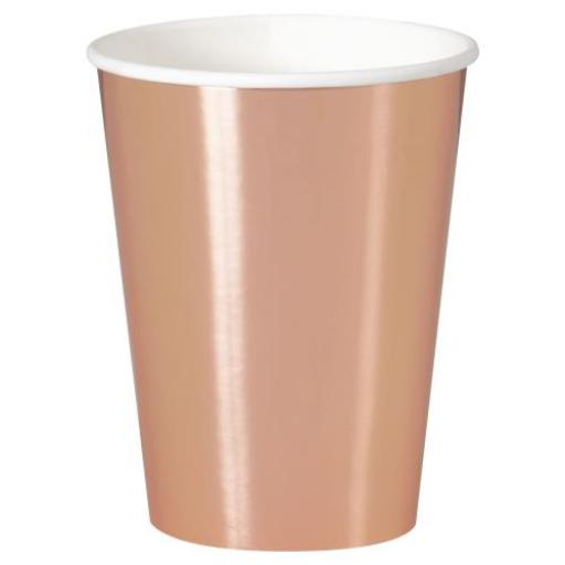 8 Rose Gold Cups 12oZ (355ml)