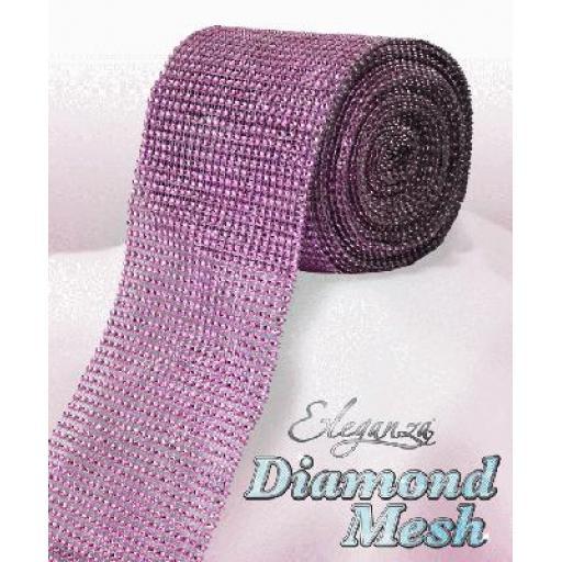 Eleganza Pink Diamond Sparkling Mesh 12cm x 1m