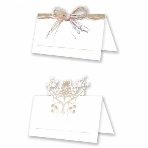 Rustic Wedding Die-Cut Place Cards-24pcs