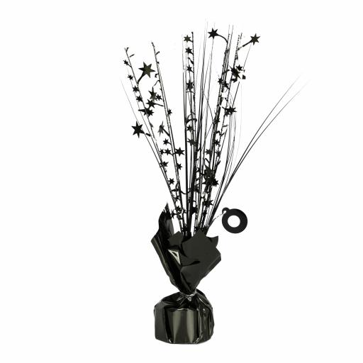 Black Spray Centrepiece Balloon Weights 30cm/150g