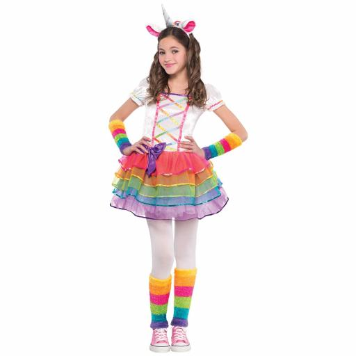 Rainbow Unicorn Costume - Age 3-4 Years