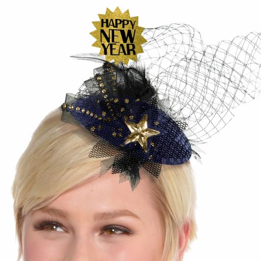 Midnight HNY Clip On Couture Hats