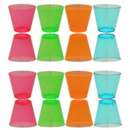 Neon Assorted Shot Glasses