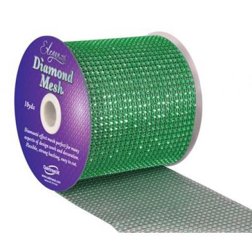 Eleganza Green Diamond Sparkling Mesh 12cm x 1m