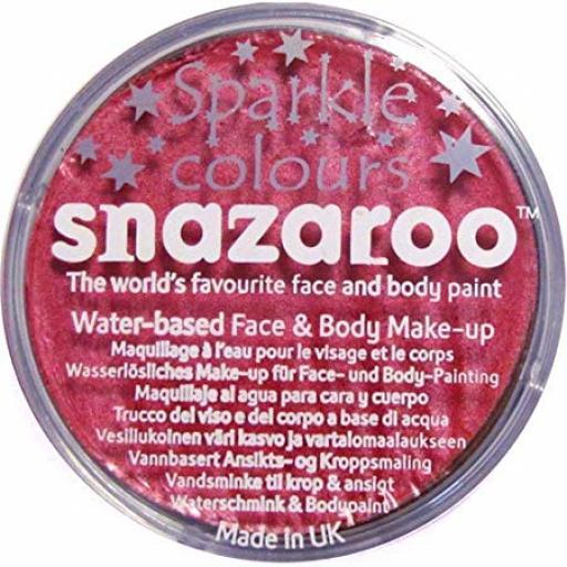 Sparkle Face Paint Sparkle Salmon Pink 18ml