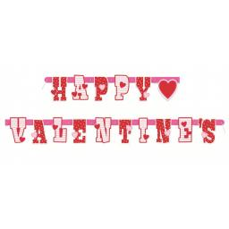 Banner - Jointed Letter, Happy Valentine's Day