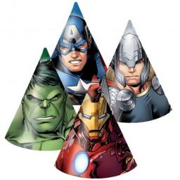 6 Avengers Multi Heroes Party Hats
