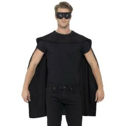Black Superhero Cape and Mask