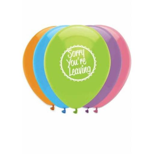 Sorry You're Leaving Helium Quality Latex Balloons 2 Sided Print-12""