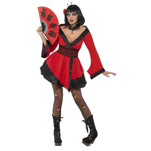 GOTHIC GEISHA WOMAN COSTUME-MEDIUM