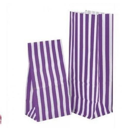 Purple Stripe Pick N Mix Bags 30pk