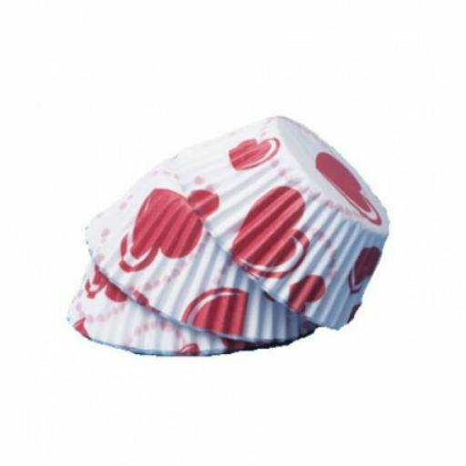PME Heart Baking Cases x 60 Cup