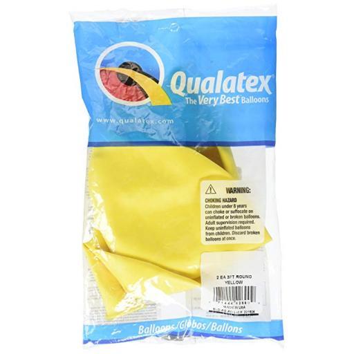 Qualatex 3ft Round Yellow 02ct Latex Balloons