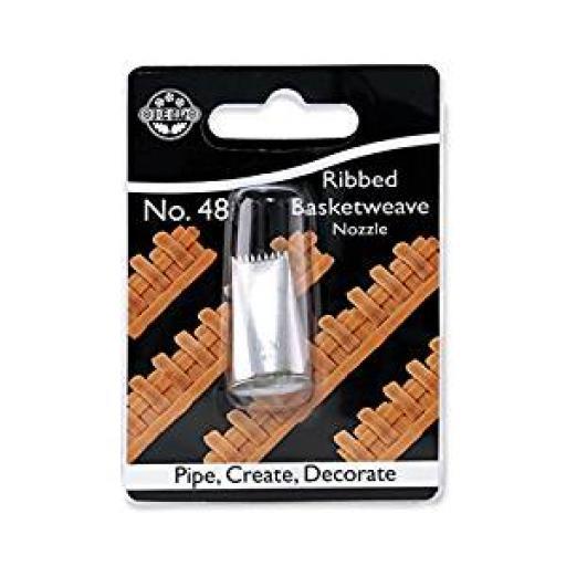 JEM Small Plain / Ribbed Basketweave Piping Nozzle no. 48