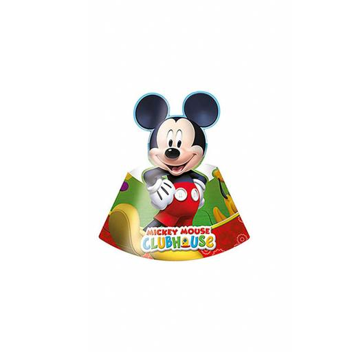 6 Disney Mickey-Mouse Party Hats Card