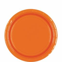 8 Orange Peel Paper Plates 22.8cm