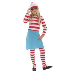 Where's Wally? Wenda Child Costume - Small