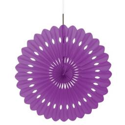 Decorative Paper Fan - Purple