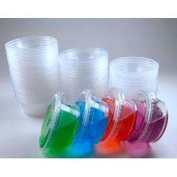 2 oz Disposable Plastic Sauce Cups & Lids -25sets