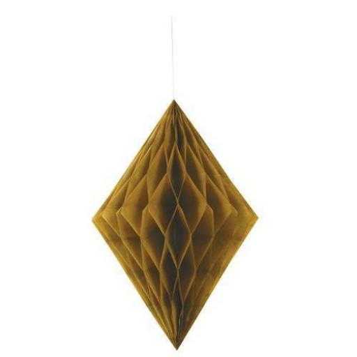 Honeycomb Hanging Decoration - Gold