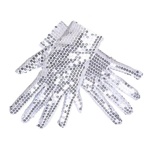 Boland Gloves Sequins Unisex Silver