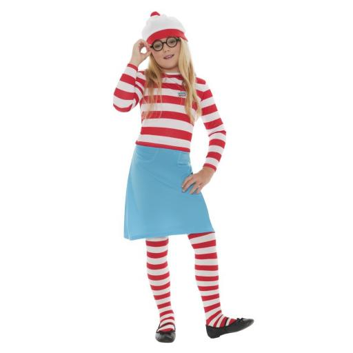 WHERE'S WALLY? WENDA CHILD COSTUME Medium