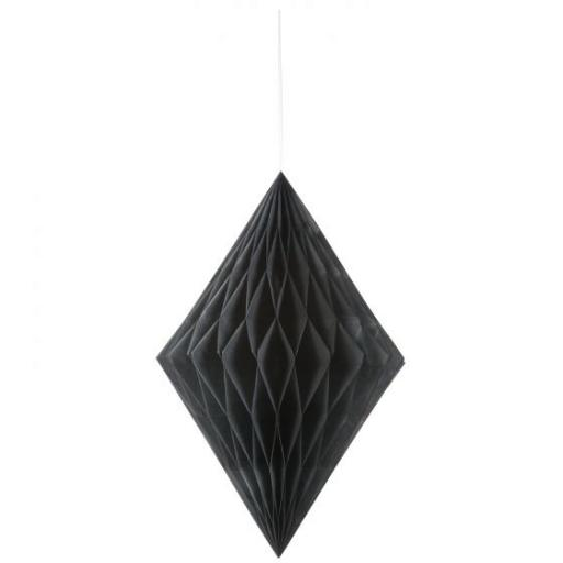 Honeycomb Hanging Decoration - Black Honey -Comb