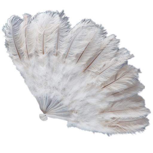 White Feather Fan - 45cm x 27cm