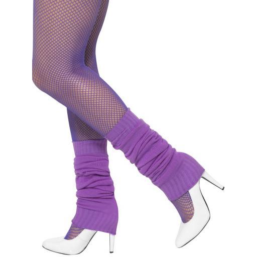 Purple Leg Warmers - One Size