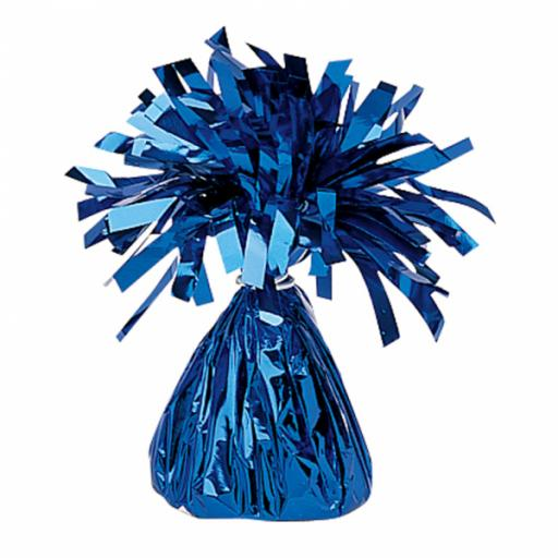 Blue Foil Balloon Weights 170g