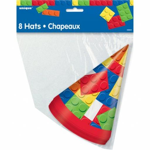 Building Blocks Party Hats - 8