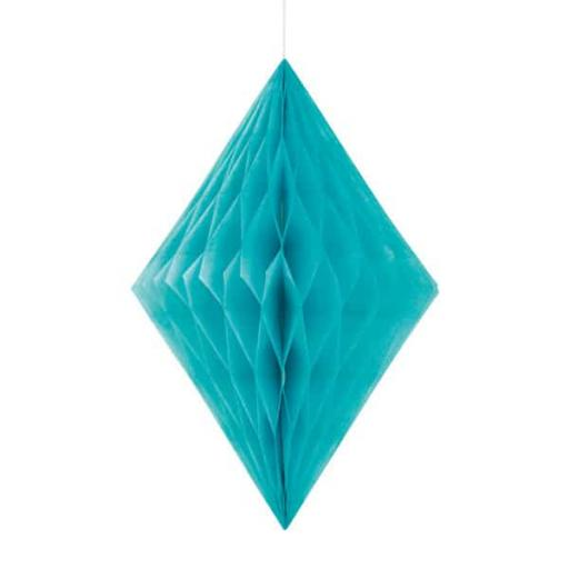 Honeycomb Hanging Decoration - Caribbean Teal