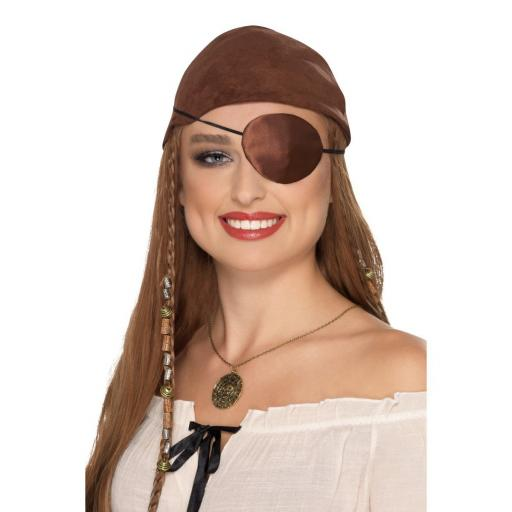 Delux Pirate Brown Eyepatch