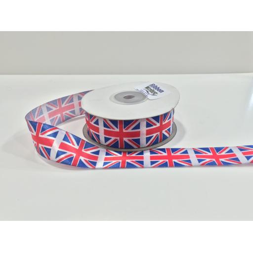 Union Jack Ribbon 25mm x 1m